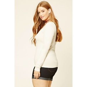 Forever 21 Plus ribbed long sleeve